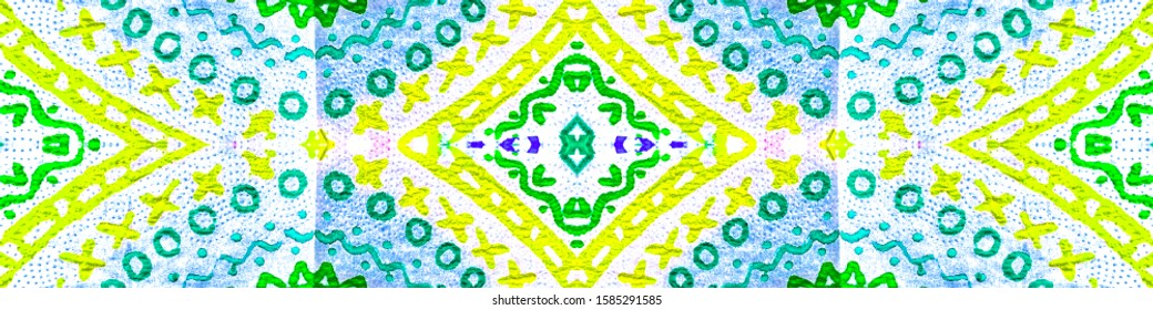 Watercolor Spanish Tile. Rainbow Seamless. Colorful Italian Tile. Italian Ceramics Texture. Bright Ethnic Turkish. Bright Flower Ceramic. Ethnic Background.