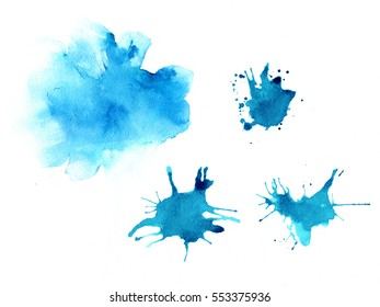 watercolor splashes and texture background
