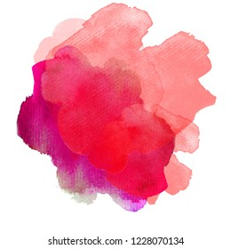 watercolor spots, abstract forms. Color blots. Basis for design