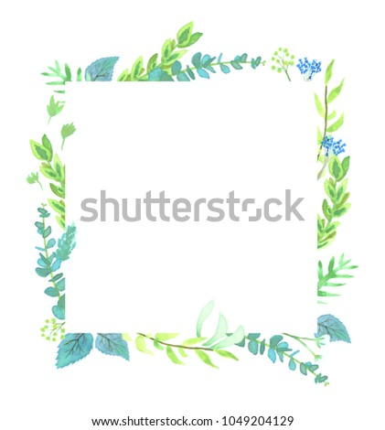 Watercolor Spring Floral Wedding Frame