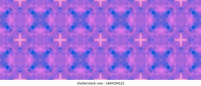 Watercolor Square Pattern. Quadrangle Texture Design. Hand Drawn Tribal Illustration. Abstract Ethnic Ornament. Seamless Watercolor Square Pattern.