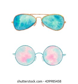 389985ba870 Watercolor Sunglasses Images, Stock Photos & Vectors | Shutterstock