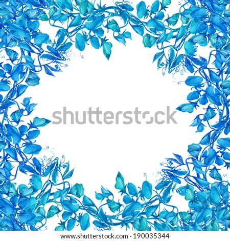 Watercolor Sweet Pea Flowers Frame Stock Illustration 190035344 ...