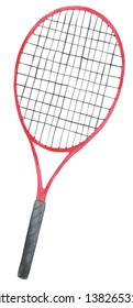 Watercolor Tennis Racket Illustration, Tennis Racket Clipart