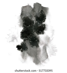 watercolor textured backdrop black, abstract watercolor hand paint texture, isolated on white background, watercolor drop