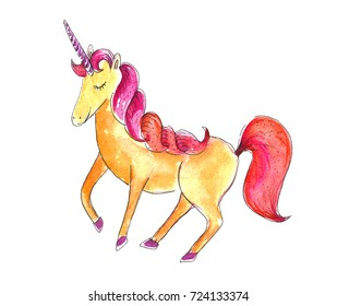 Watercolor unicorn.