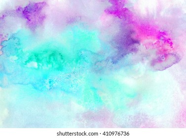 Watercolor Wash Background. Abstract watercolor art hand painted background. Watercolor stains. colorful vintage water colour texture. Abstract colorful watercolor background for graphic design