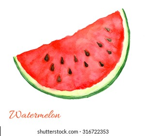 Watercolor watermelon isolated