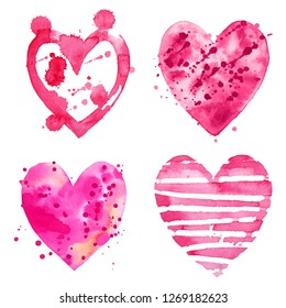 Watercolor wedding clipart. Scrapbooking clipart. Valentine's Day heart. Heart clipart.