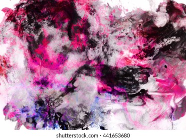 Watercolor Wet Background. Blue .Watercolor abstract background. Hand painted watercolor background. Watercolor wash. Abstract painting. Watercolor wash. Ink marble texture. black and pink