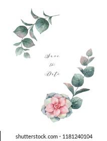Couronne De Fleur Aquarelle Stock Illustrations Images Vectors