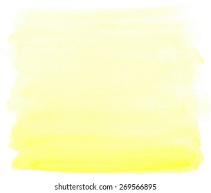 watercolor yellow stain