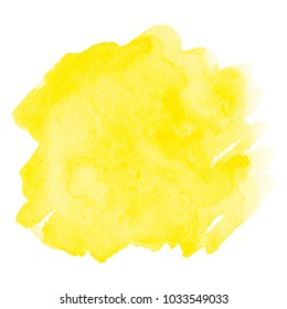 Watercolor yellow stain isolated