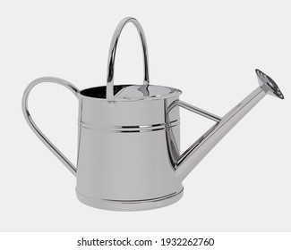 Watering can isolated on background. 3d rendering - illustration