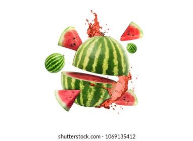 watermelon fruit explotion