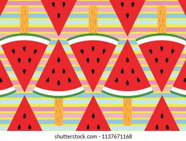 Watermelon fruit ice cream