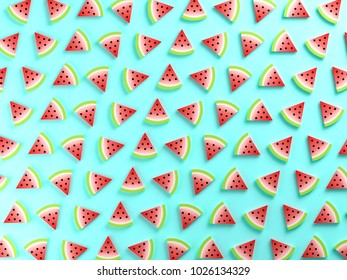 Watermelons on blue background