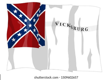 Waul's Texas Legion. Historic Flag. US Civil War 1860's. Confederate States of America