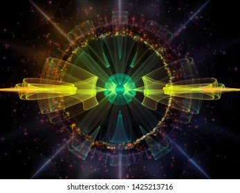 Wave Function series. Composition of  colored sine vibrations, light and fractal elements for projects on sound equalizer, music spectrum and  quantum probability