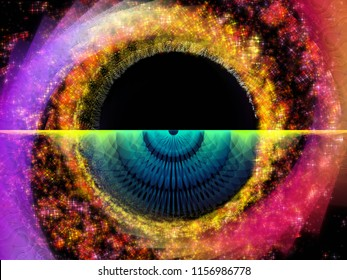 Wave Function series. Interplay of colored sine vibrations, light and fractal elements on the subject of sound equalizer, music spectrum and  quantum probability