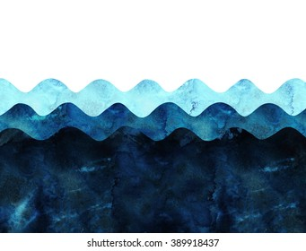 wave ocean sea background. handmade origami collage style. trendy and stylish postcard.
