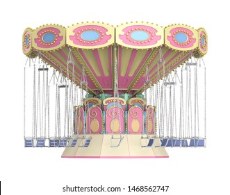 Wave Swinger Isolated. 3D rendering