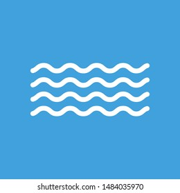 Waves outline icon, modern minimal flat design style. Wave thin line symbol, illustration.