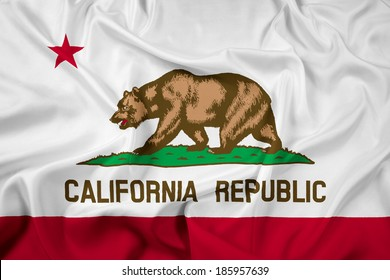 Waving California State Flag