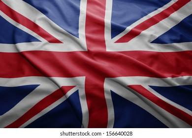 Waving colorful British flag