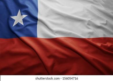 Waving colorful Chilean flag