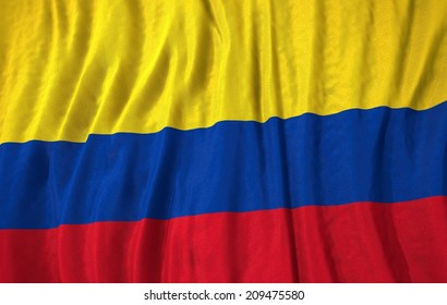 Waving colorful columbia flag