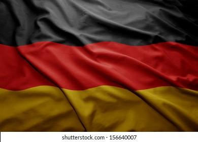 Waving colorful German flag