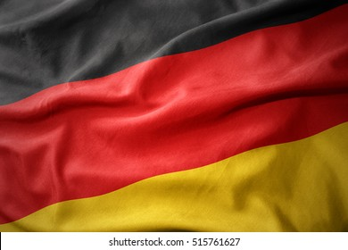waving colorful national flag of germany.