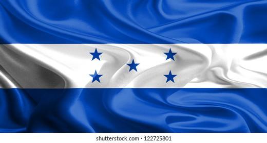 Waving Fabric Flag of Honduras