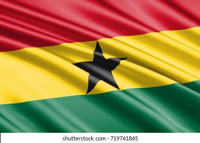 waving flag of Ghana