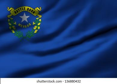 Waving flag of Nevada. Design 1.