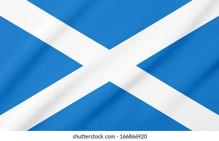 Waving flag of the Scotland