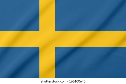 Waving flag of the Sweden