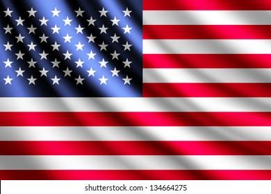 Waving flag of USA