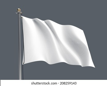 Waving flag/Blank flag - Grey background