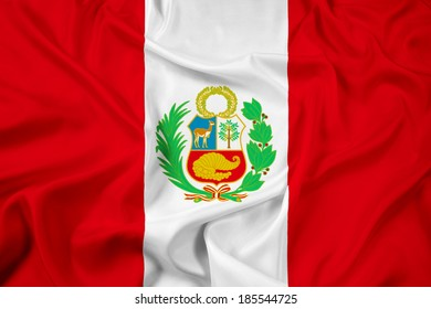 Waving Peru Flag