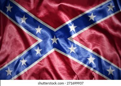 waving and shining confederate flag