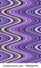 Wavy abstract of many contiguous vertical S-curves, mostly blues and violets, for decoration or background with motifs of fluidity or repetition