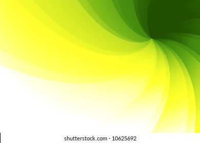 Wavy, faceted 3D background with green, yellow and white nuances