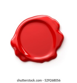 Wax seal isolated on white background - 3D Rendering