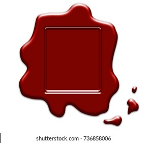 Wax seal stamp on white background
