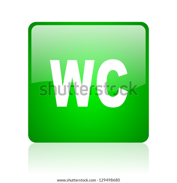 wc green square web icon on white background
