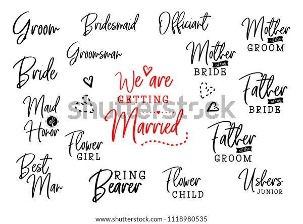 We Getting Married Groom Bride Marriage Stock Illustration ...