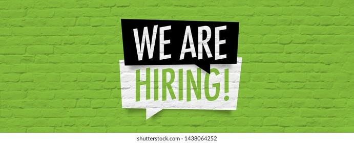 We are hiring / Brick wall banner