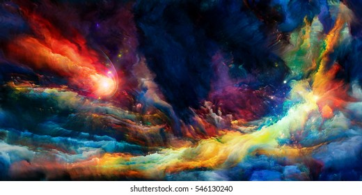 We Live Series. Interplay of intense colors on the subject of inner world, dreams and spirituality.